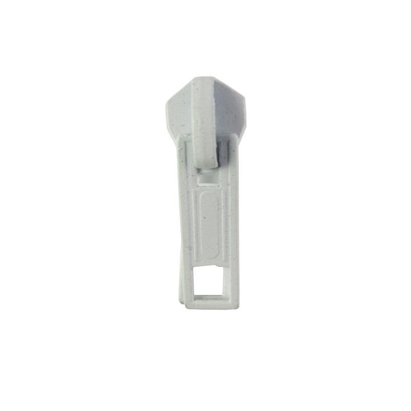 Cursor duplo branco para fecho 8mm 2