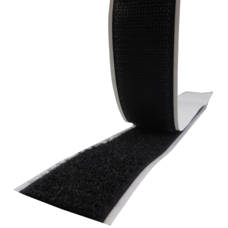 Fita de velcro cor preto com cola